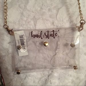 MS State clear purse....BRAND NEW!